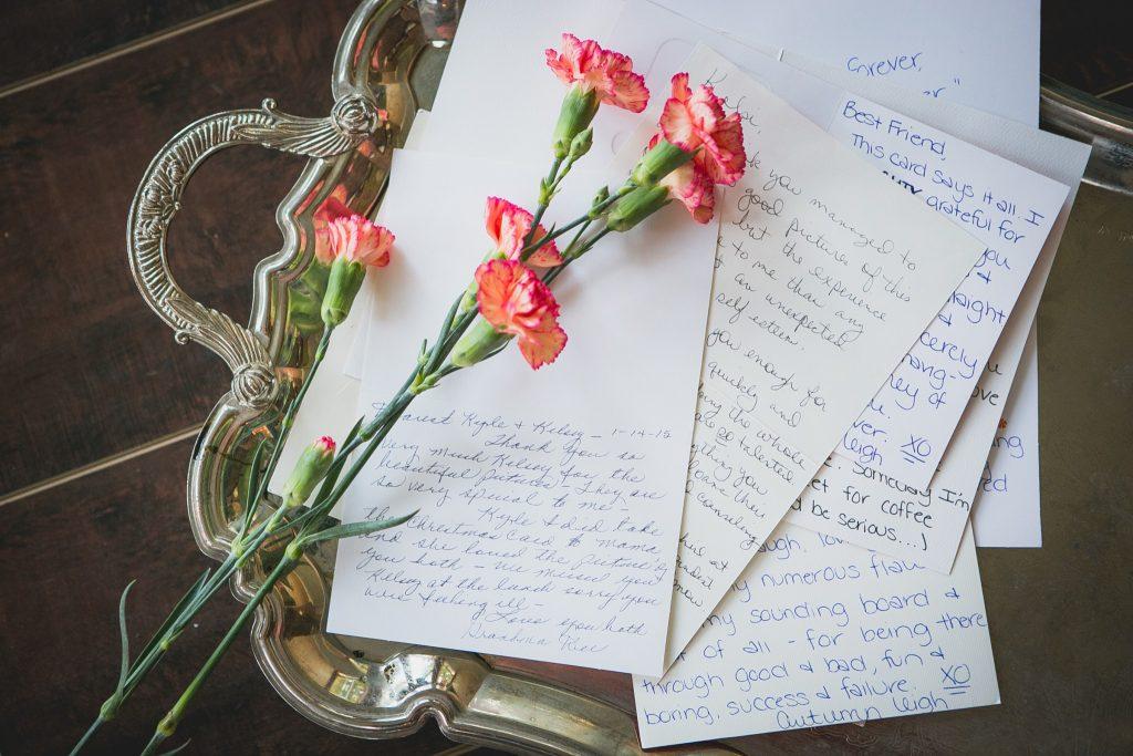 Handgeschreven brief emotioneel